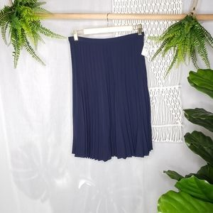 ST.JOHN Vintage By Marie Midi Accordion Skirt Blue